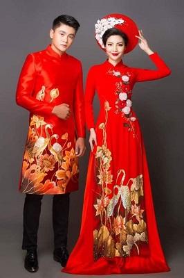 Yin – Chuyên thiết kế áo dài cưới cực chất và xinh nhất Aodai310