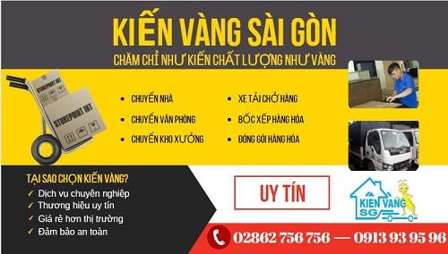 Kiến Vàng Sài Gòn - Cty taxi tải giá rẻ, uy tín tại TPHCM Kienva11