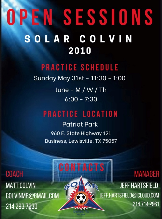 Solar 10G Colvin: Looking for players 10gcol10