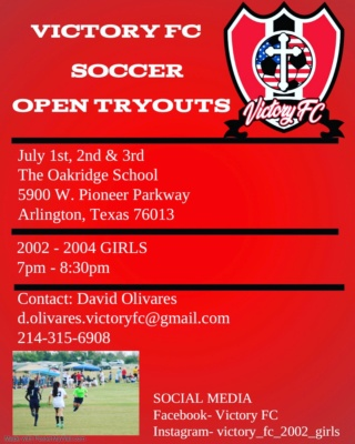 Victory FC 02/03 Tryouts / Practice in Arlington  86d6d810