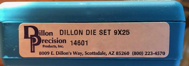 WTB 9X25 Dillon dies. Img_5910
