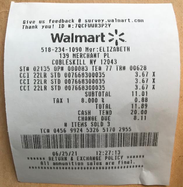 CCI SV back to normal $3.67/box at Walmart. 6/25/2021 Img_6611