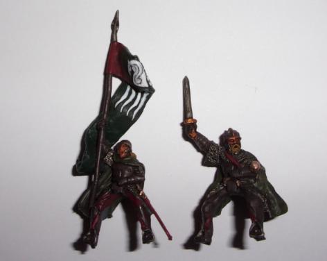 [les combattants du Gouffre] Capitaine monté et son escorte. Capita10