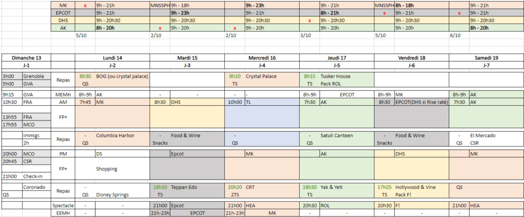 ANNULE [Pre-TR] First Timer à WDW-USO (du 13 au 26 Septembre 2020) - Page 3 0110