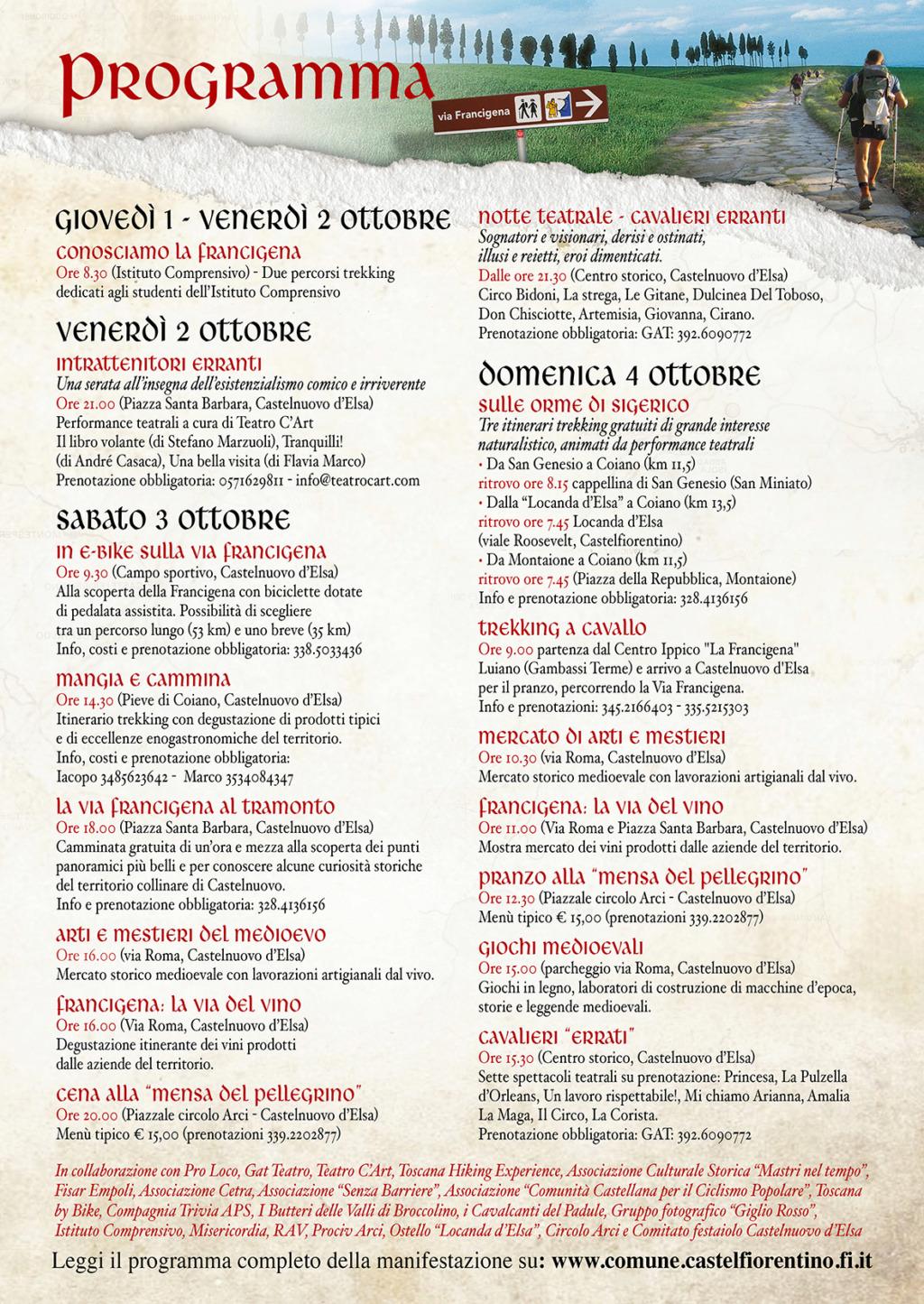 La Via Francigena in Valdelsa Progra10