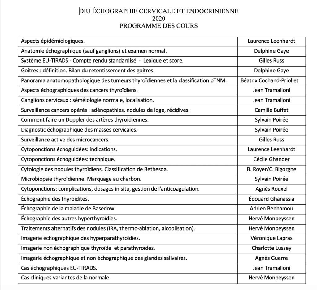 DIU ECHOGRAPHIE CERVICALE Progra17