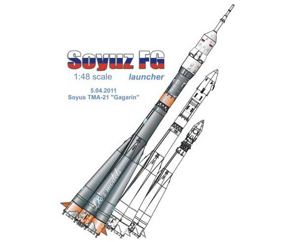 Soyuz -FG geb. von Modellbauer Soyuz-11