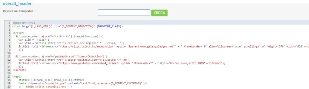Visualizzazione codici sul mobile Screen18