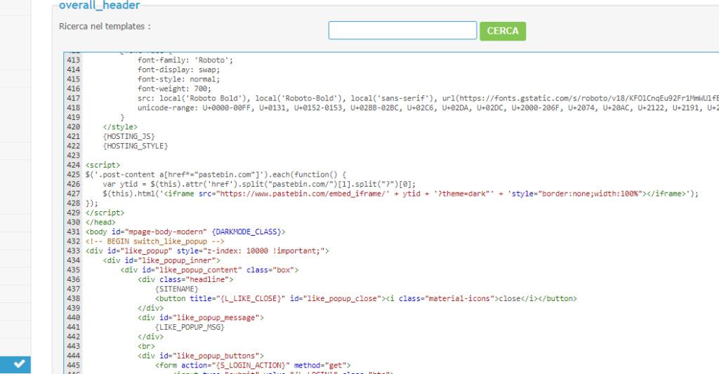 Visualizzazione codici sul mobile Screen21