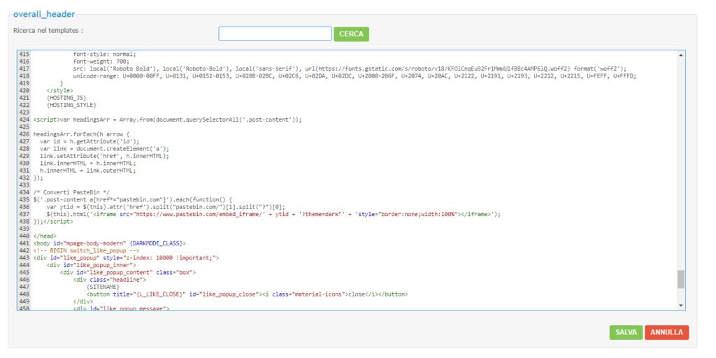 Visualizzazione codici sul mobile Screen23