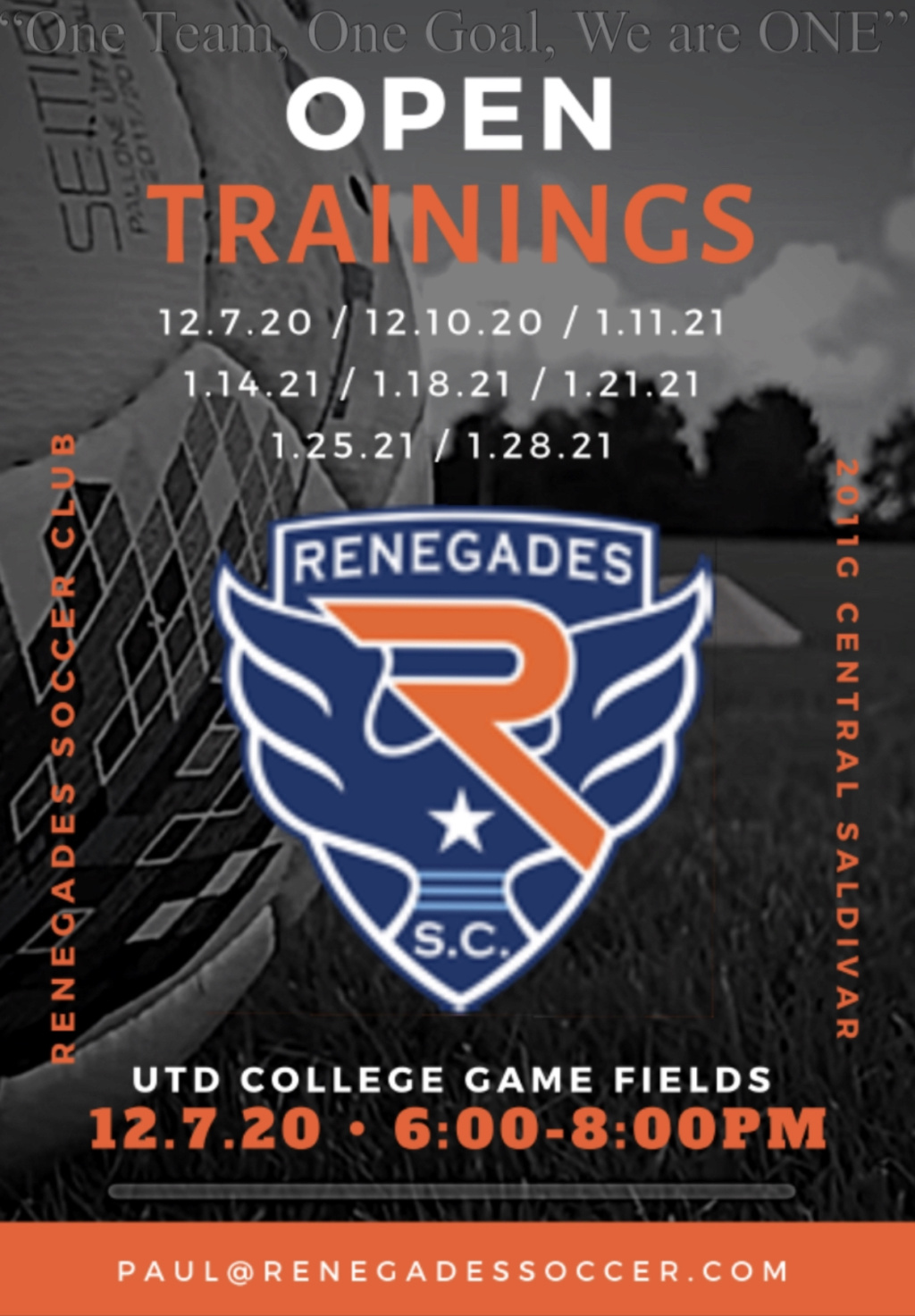 Renegades 2011G team forming 2020/2021 3b08ec10