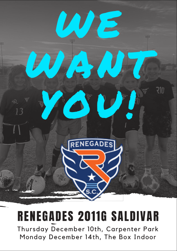 Renegades 2011G team forming 2020/2021 A3124c10