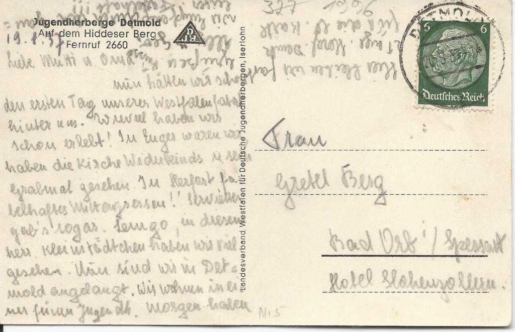Ansichtskarten aus Lippe Detmold Jugend12