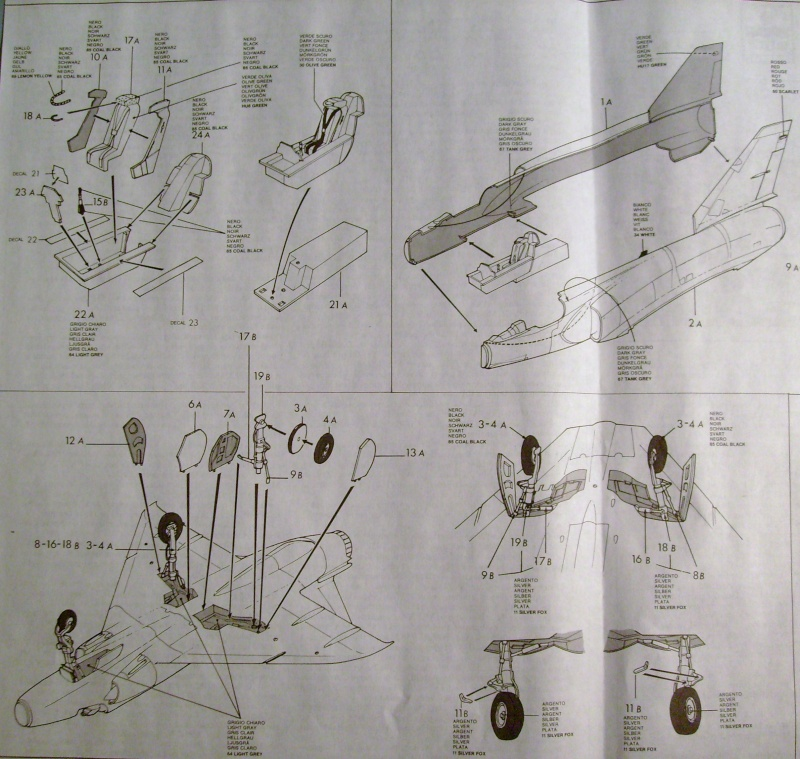 Multi-présentations ESCI/ITALERI quelques  MIRAGE III, F1 et KFIR au 48ème S7307123