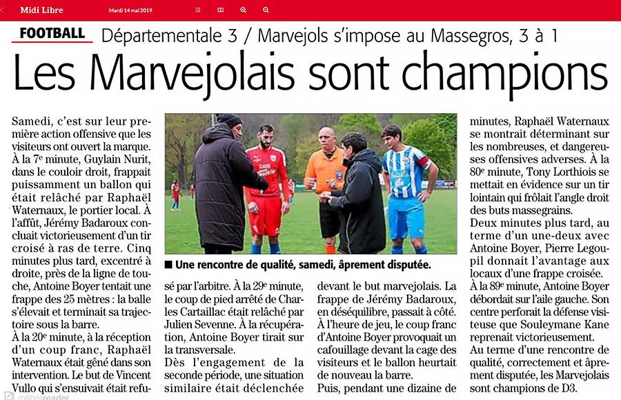 MARVEJOLS SPORTS / ASC Le Massegros Massr10