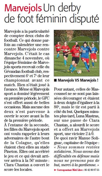MARVEJOLS / GFC Msgfc10