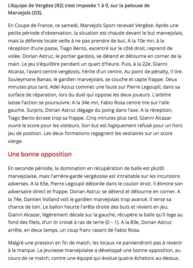 Coupe de France 2019 Tour 3 Vergez10