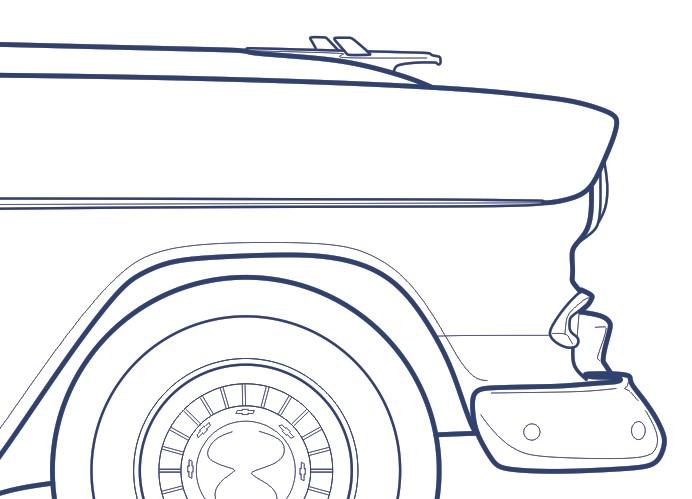 Chevrolet 55 Sport Coupe Blueprint Detail10