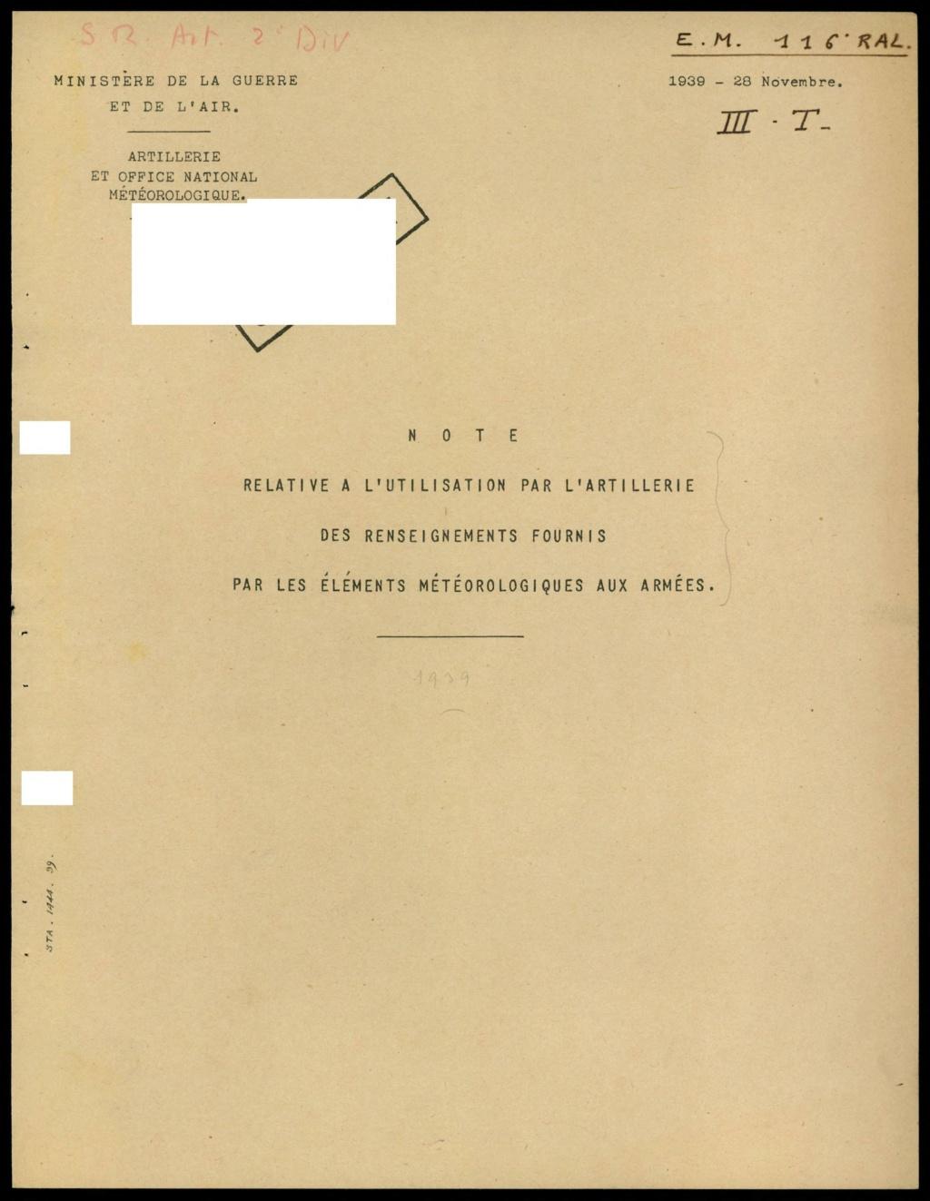 La météorologie dans l'armée francaise 111