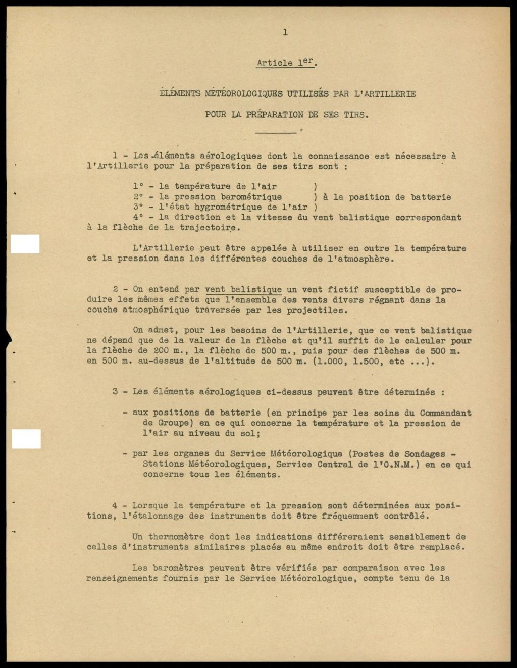 La météorologie dans l'armée francaise 310