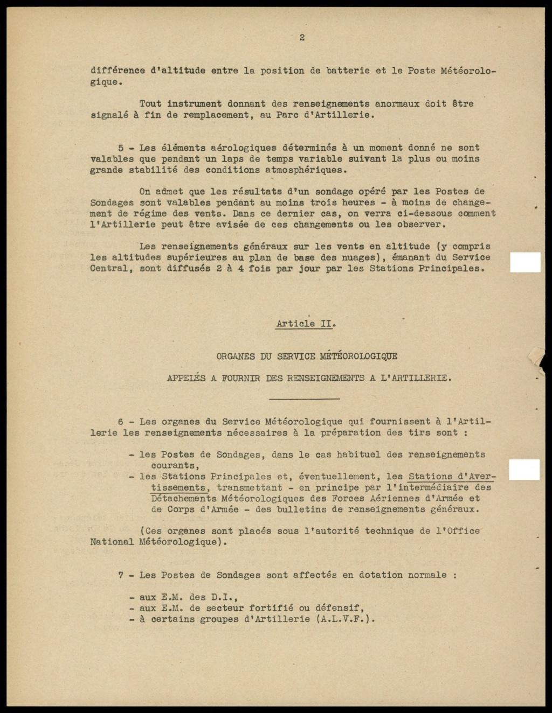 La météorologie dans l'armée francaise 411