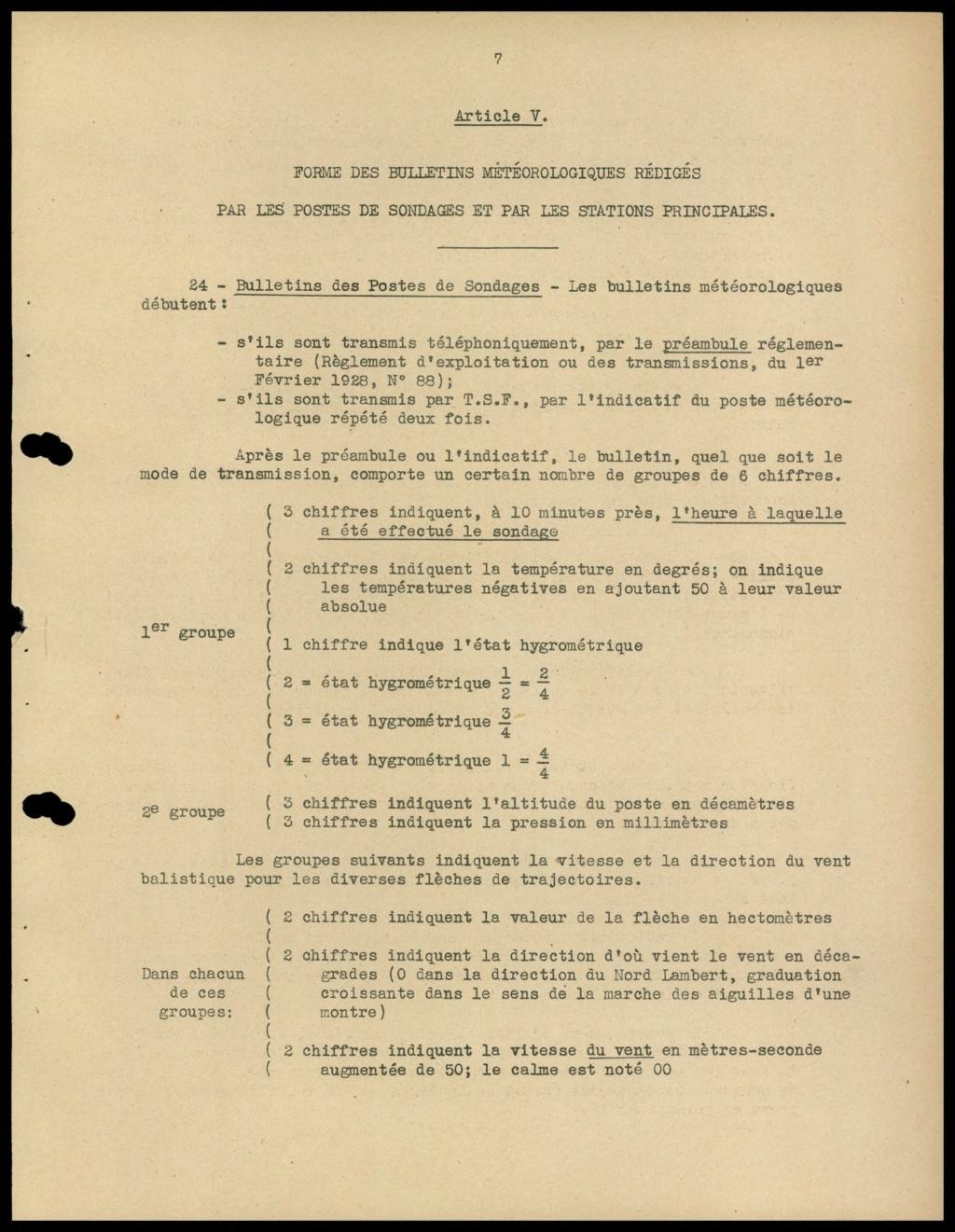 La météorologie dans l'armée francaise 810