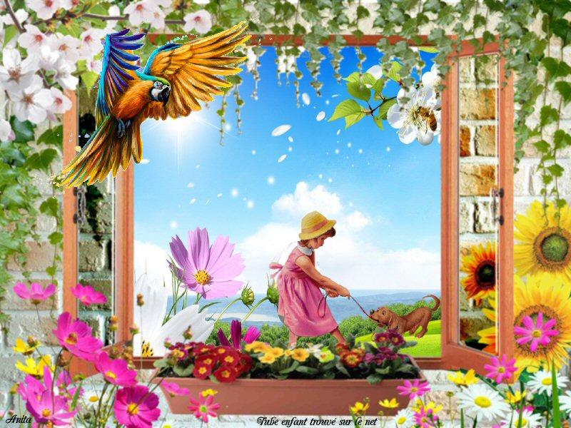 Cadre fenêtre, lierre, fleurs 2_m_d_10