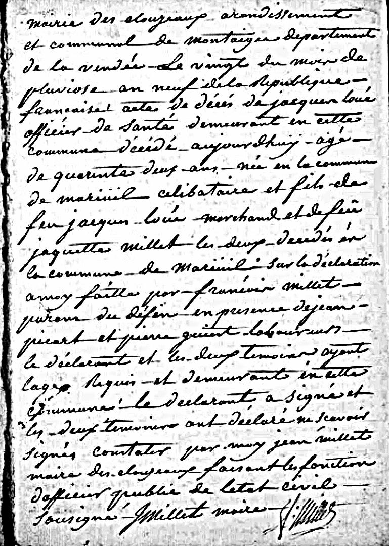 Corvette Dragon 1783 : chirurgien-major Jacques Loué. Ad85_d10