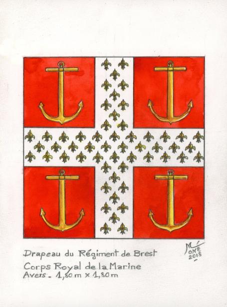 Corps Royal de la Marine : Régiment de Brest. Trouvé ! Aqua_b10