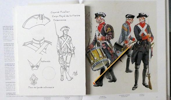 Corps Royal de la Marine : Régiment de Brest. Trouvé ! Aqua_b11
