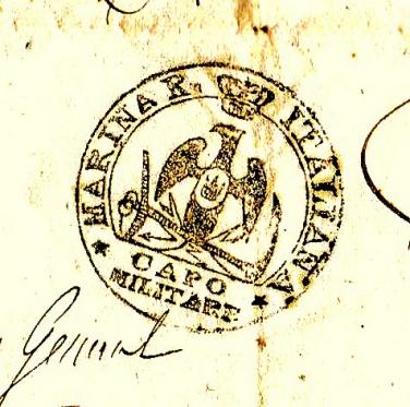 Pavillon de la Marine du Royaume d'Italie 1805-1814. Cachet10