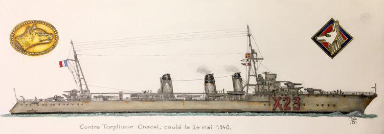 Contre-torpilleur Chacal coulé le 24 mai 1940 au Cap d'Alprech près de Boulogne. - Page 3 Chacal38