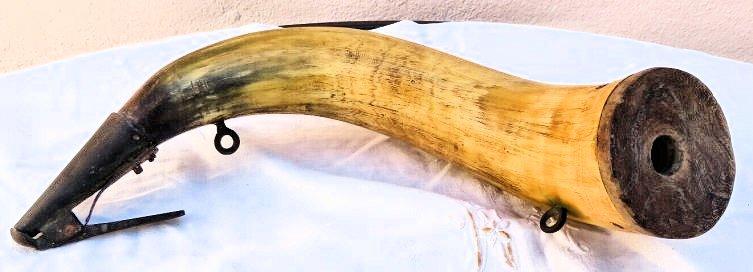 Pulvérin en corne... XIXe siècle ? Corne-10