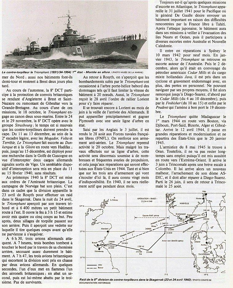 Contre-torpilleur Chacal coulé le 24 mai 1940 au Cap d'Alprech près de Boulogne. - Page 2 Ct_tri11