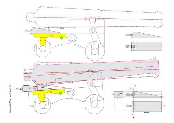 Affût anglais de 9-pounder au 1:10. Système de 1760 d'après J. Robertson en 1775. - Page 4 Dragon32