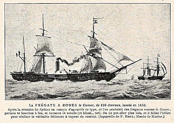 """Frégate à roues """"La Caraïbe"""" perdue en janvier 1847. Fmib_410"""