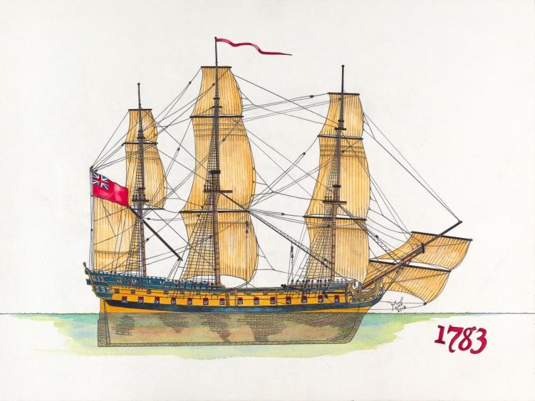 Le Dragon du chevalier de L'Espine : du Cutter anglais à la corvette française. - Page 6 Invinc10