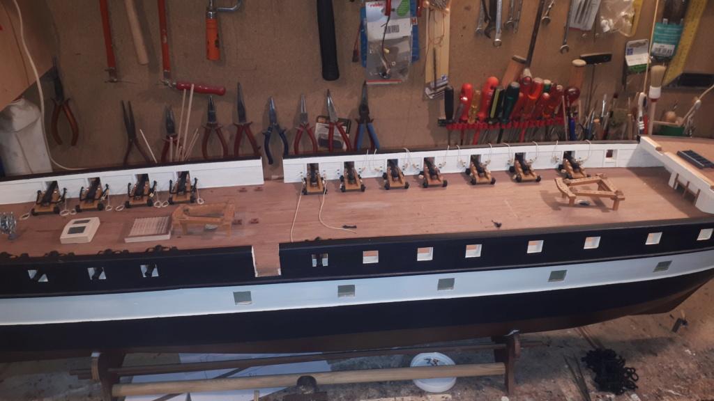 Restaurierung Dänische Fregatte Jylland 1:24 20200710