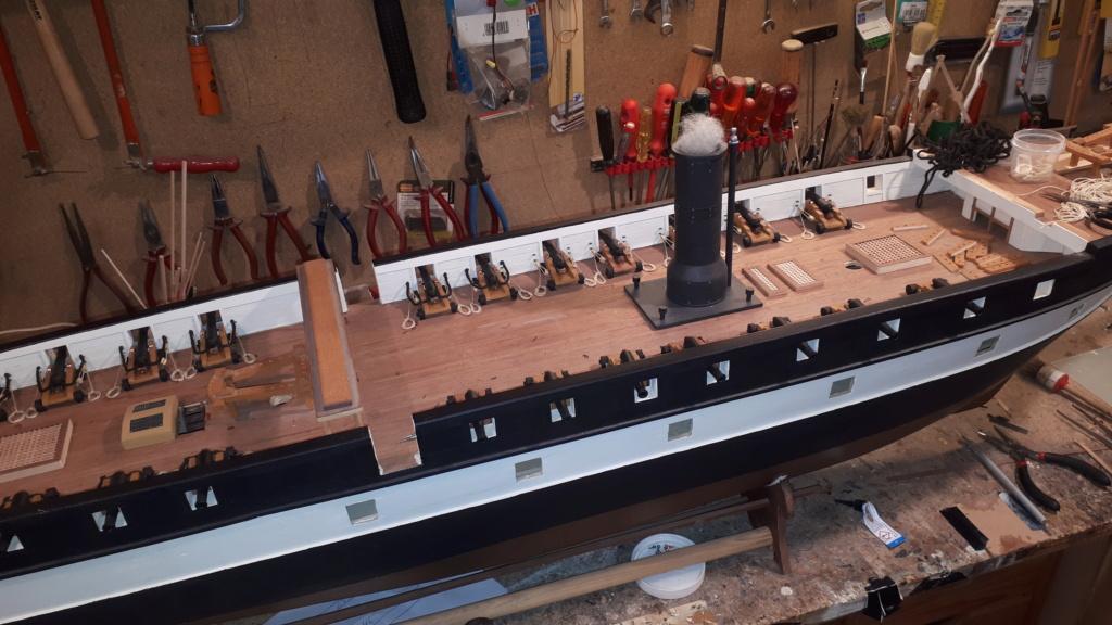 Restaurierung Dänische Fregatte Jylland 1:24 20200714