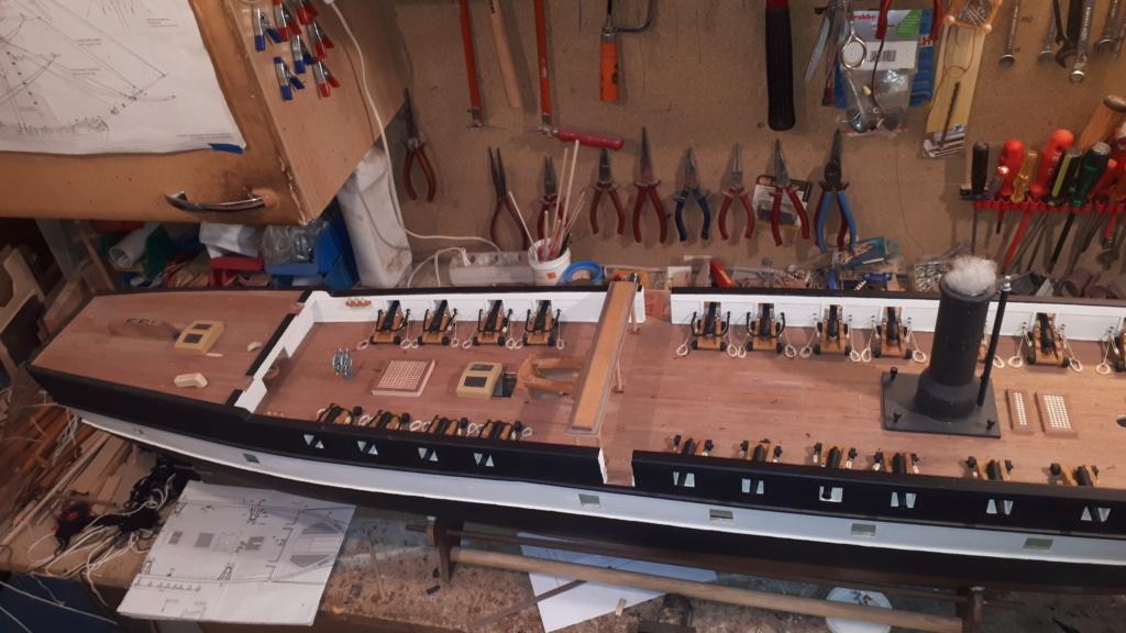 Restaurierung Dänische Fregatte Jylland 1:24 20200715