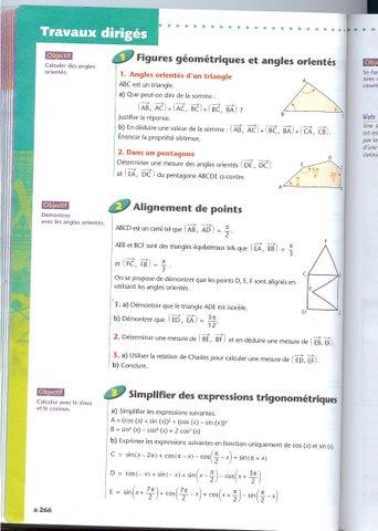 La trigonométire. 1p26613