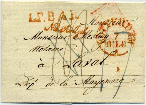 Tarif postal pour l'etranger (1833) Lpb_210