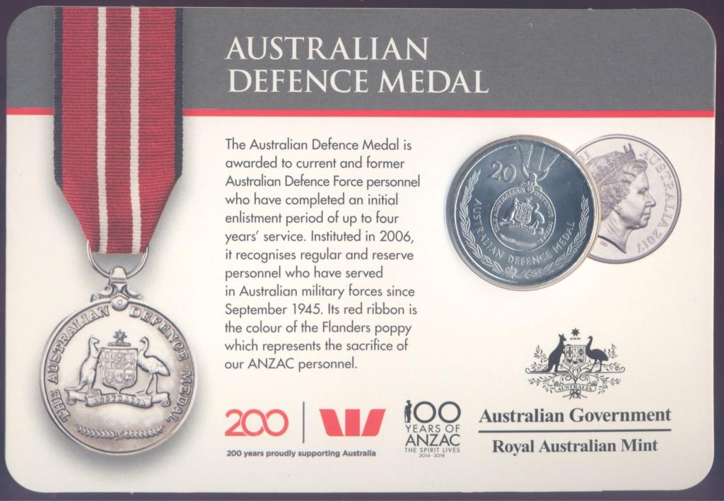 ANZAC - MEDALS OF HONOUR (AUSTRALIA 2017) Defenc10
