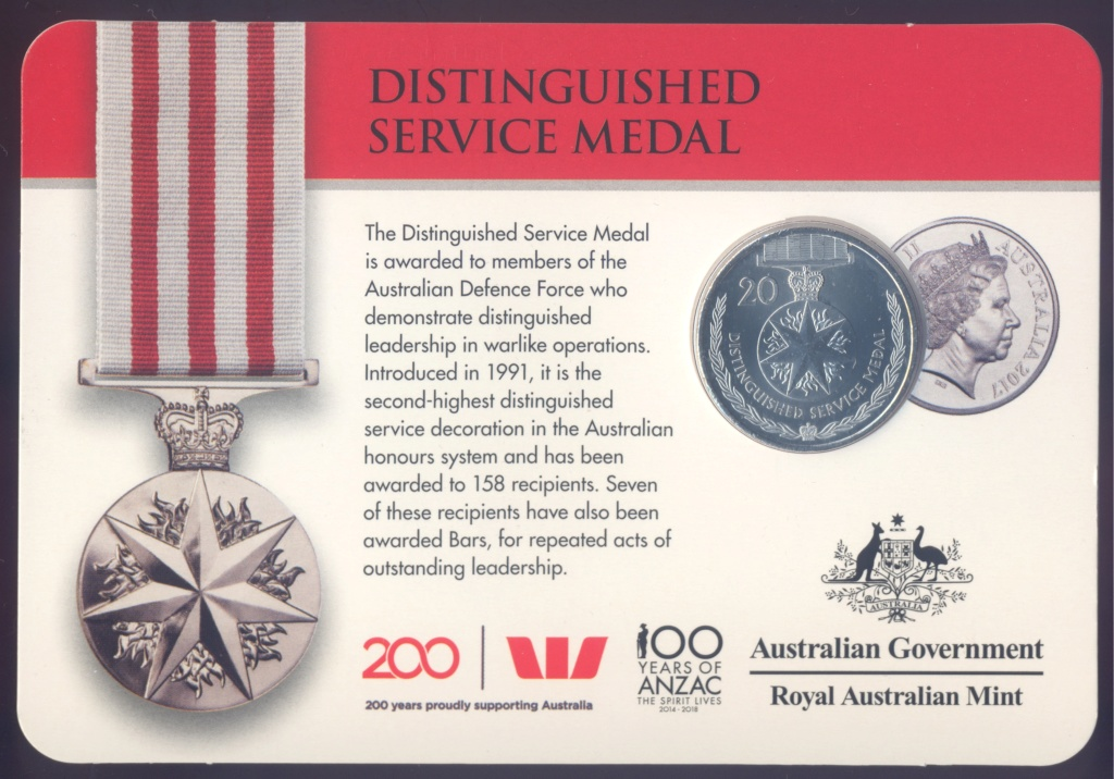 ANZAC - MEDALS OF HONOUR (AUSTRALIA 2017) Distin10