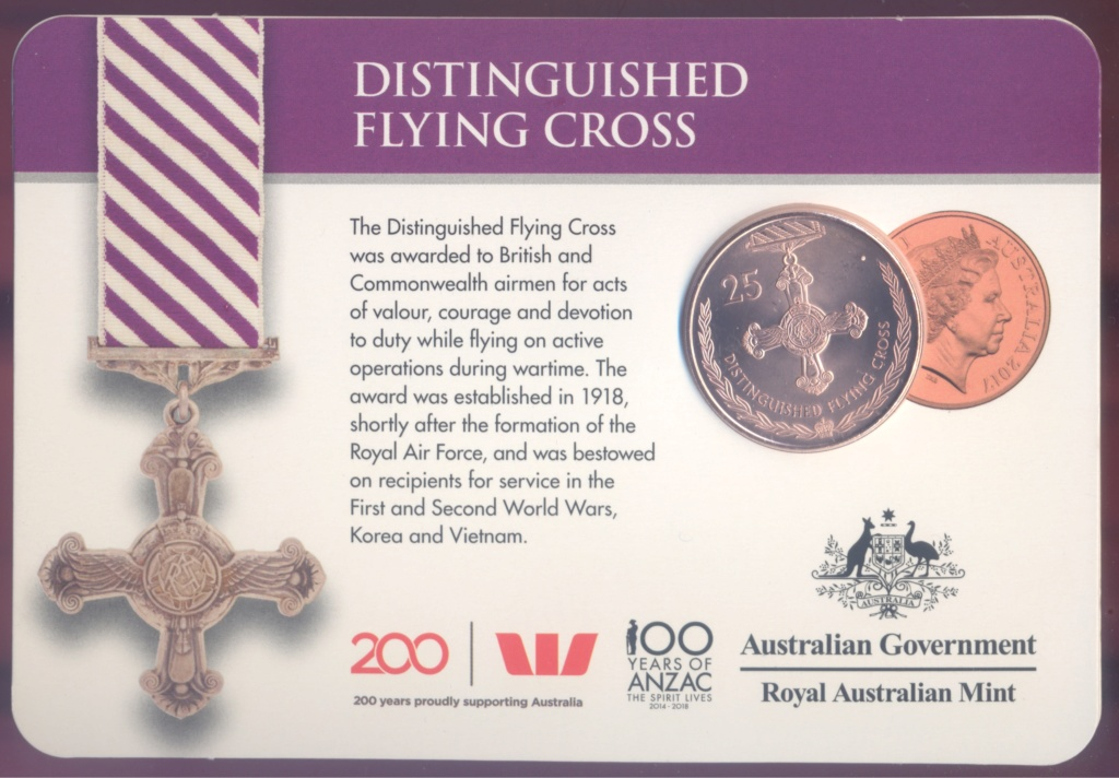 ANZAC - MEDALS OF HONOUR (AUSTRALIA 2017) Flying10