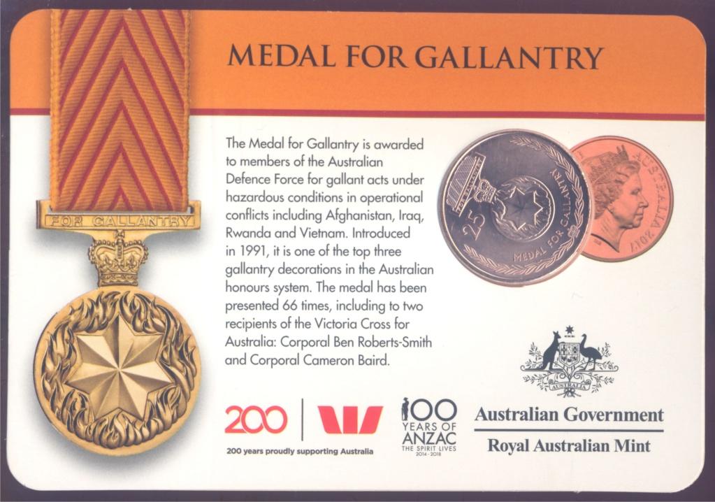 ANZAC - MEDALS OF HONOUR (AUSTRALIA 2017) Gallan10