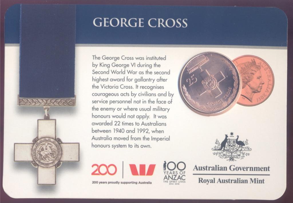 ANZAC - MEDALS OF HONOUR (AUSTRALIA 2017) George10