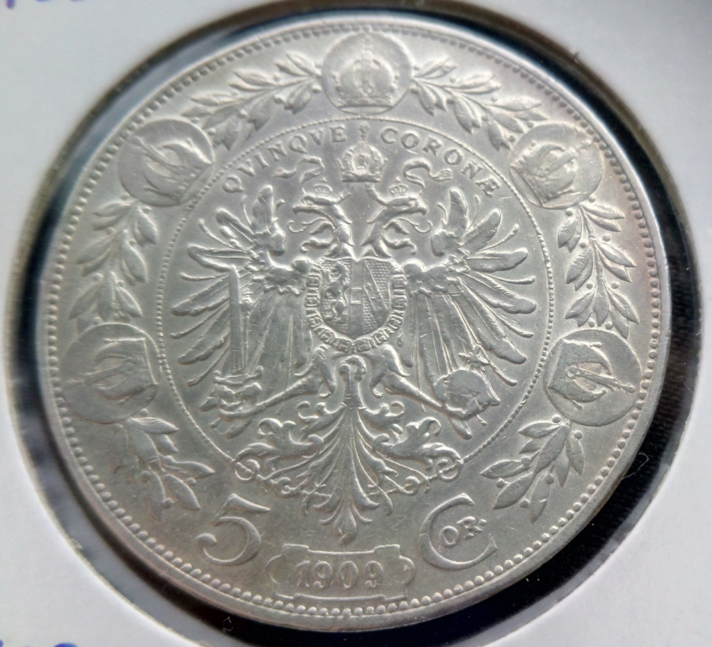 5 coronas Francisco José I. Imperio Austrohúngaro (Hungría). 1908. Img_2017