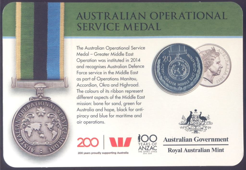 ANZAC - MEDALS OF HONOUR (AUSTRALIA 2017) Operat10
