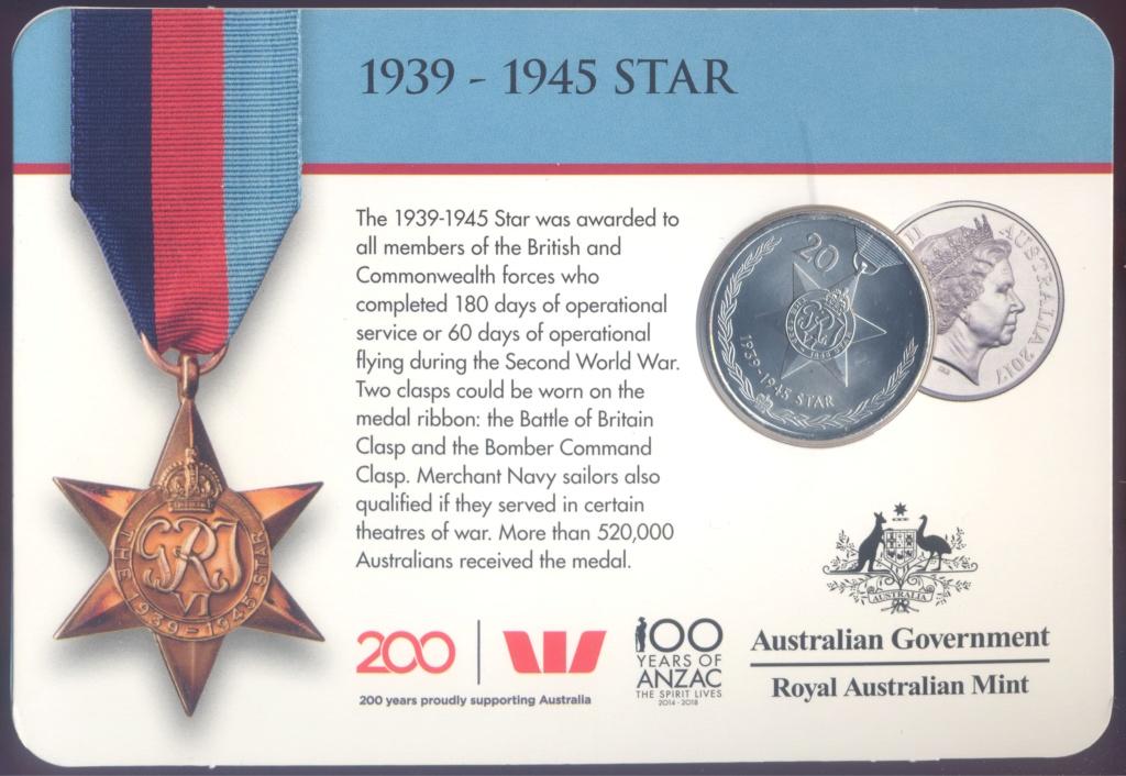 ANZAC - MEDALS OF HONOUR (AUSTRALIA 2017) Star10